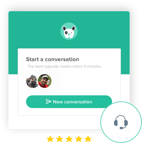 A chat window from the Scout dog walking and pet sitting software.